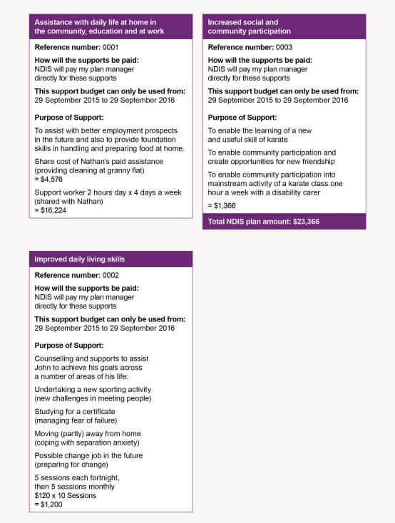 What could my NDIS plan look like?