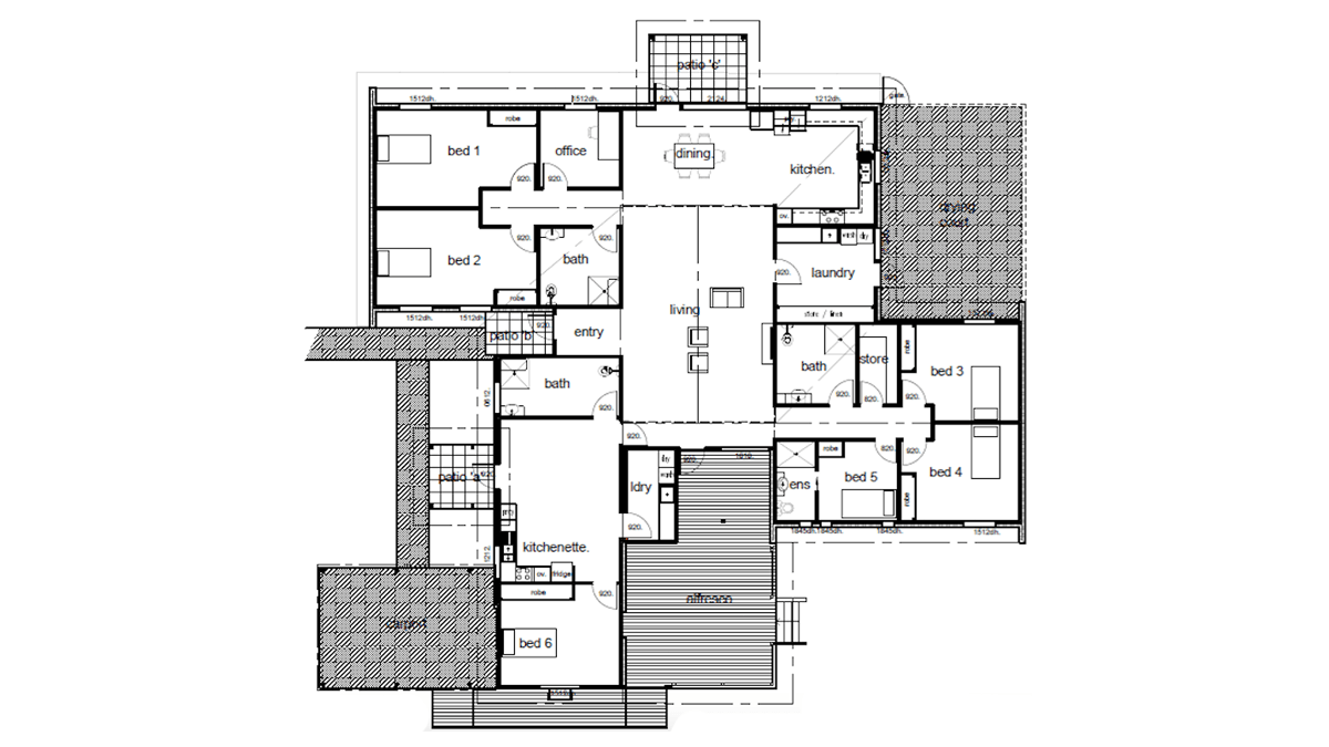 Supported Accommodation Kawana Floorplan